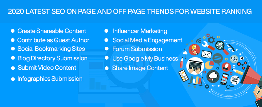 2020 Latest SEO On Page and Off Page Trends for Website Ranking